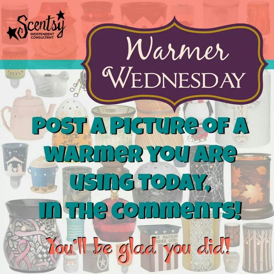 Happy Wednesday!  Show me your Scentsy warmer. You won't regret it.  ;) www.jennsander.scentsy.us