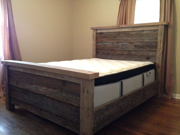 Add Drawers And This Is Awesome Reclaimed Rustic Farmhouse Bed Myweekendproject