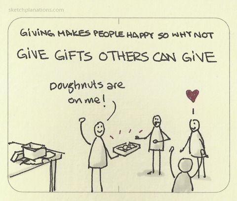 Give Gifts Others Can Give As Giving Makes People Happy