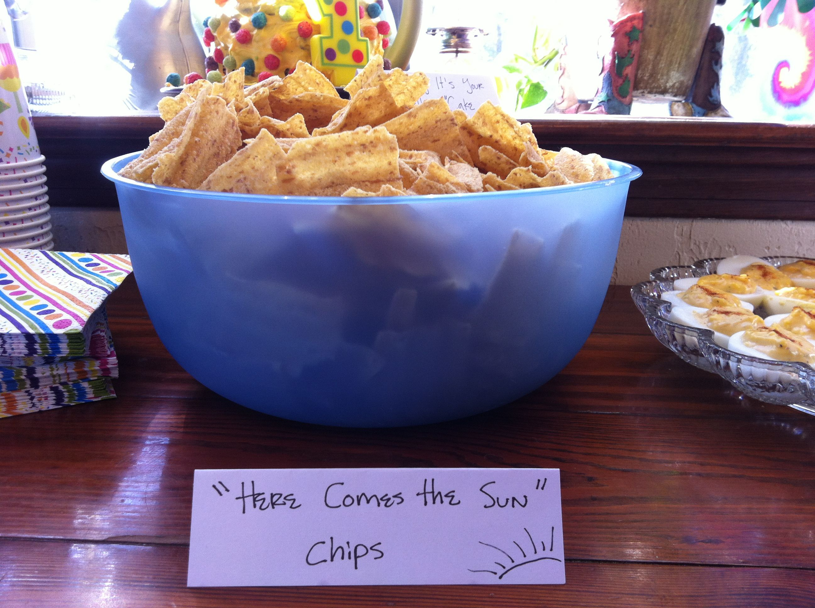 Gmail themes beatles - Beatles Theme Party Food Ideas Here Comes The Sun Chips