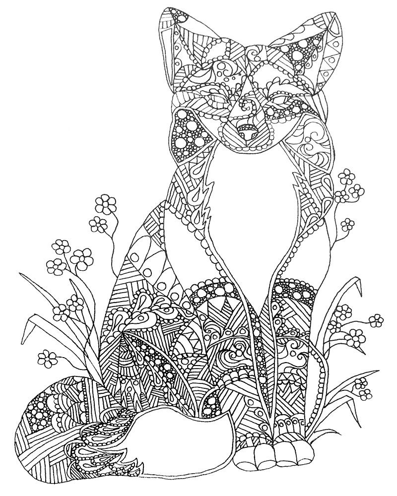 coloring.rocks! Fox coloring page, Animal coloring pages