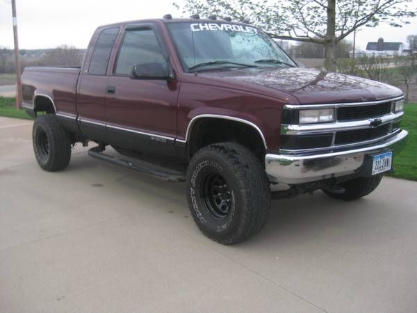 chevy k1500 1997 33 39 39 tires good base bov projects to try pinterest. Black Bedroom Furniture Sets. Home Design Ideas