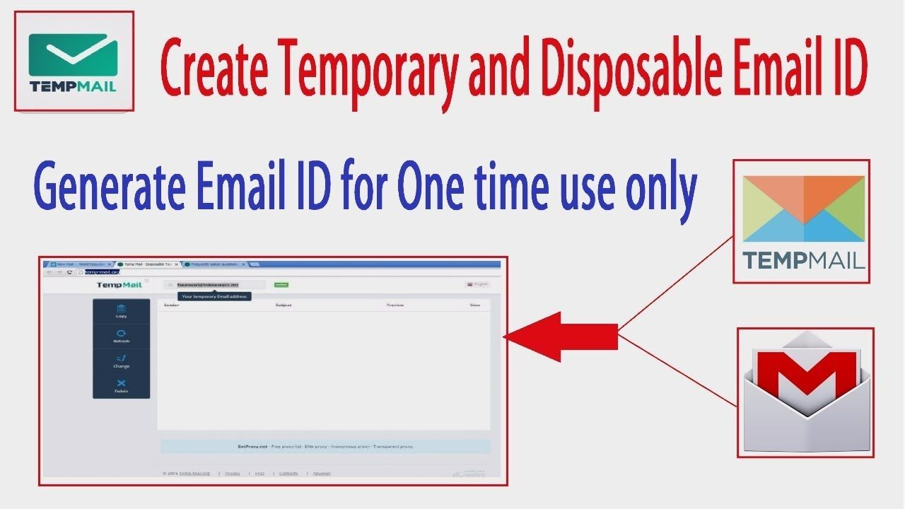 How to create a temporary email address for website