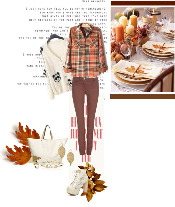 """Thanksgiving Outfit: Dining Table inspired"" by beingindrani ❤ liked on Polyvore"