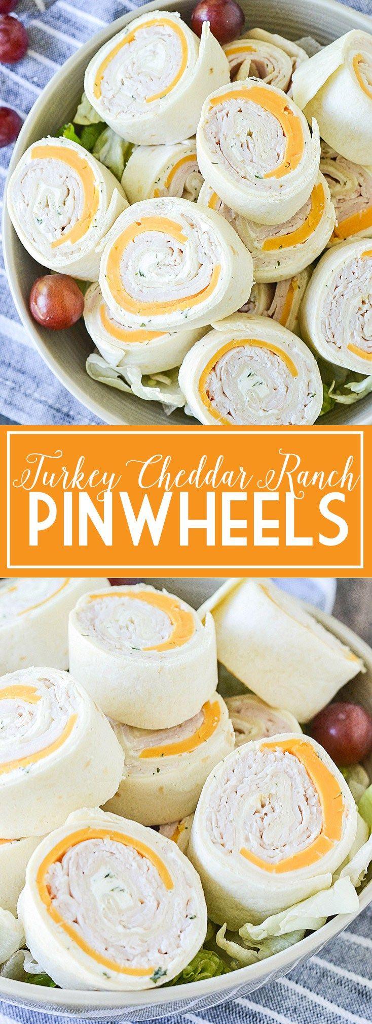Turkey Cheddar Ranch Pinwheels