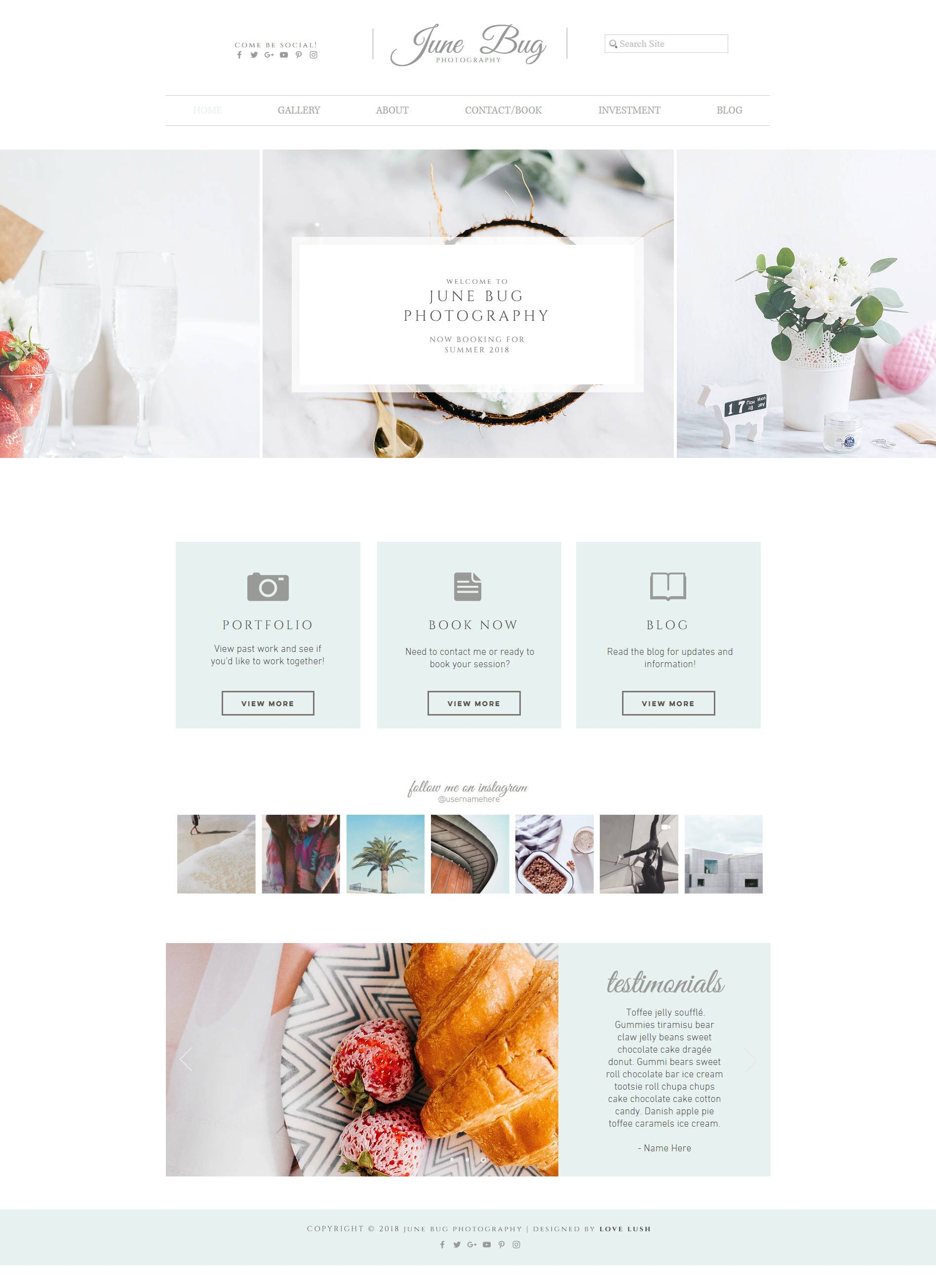 Wix Website Template For Photography Photographer Portfolio - Wix ecommerce templates