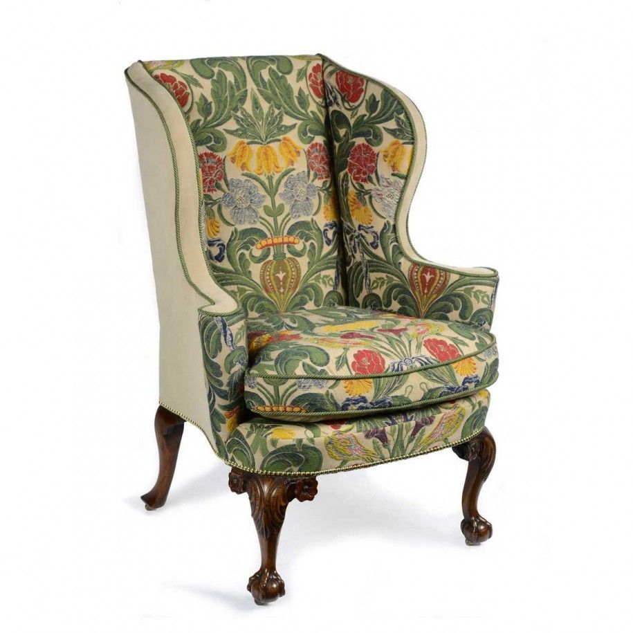 Vintage Wingback Chair Awesome Upholstery Fabric For Wingback Chair
