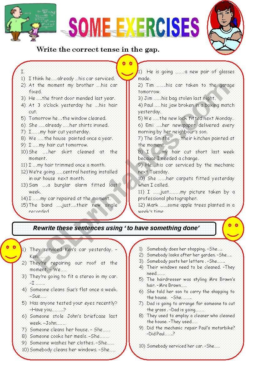 Causative Worksheet Grammar Worksheets Worksheets Really Cool Stuff [ 1169 x 821 Pixel ]