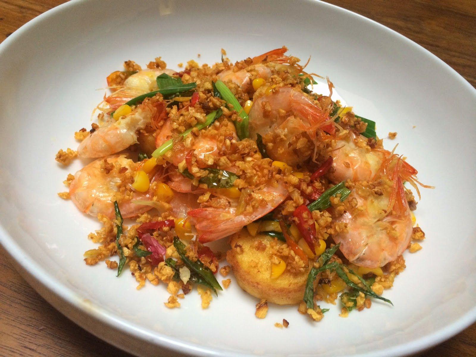Easy Cooking With Omih Resep Udang Crispy Garlic Resep Udang Memasak Masakan Simpel