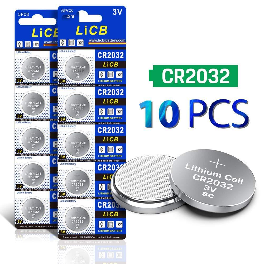 LiCB CR2032 3V Lithium Battery(10Pack) Lithium battery