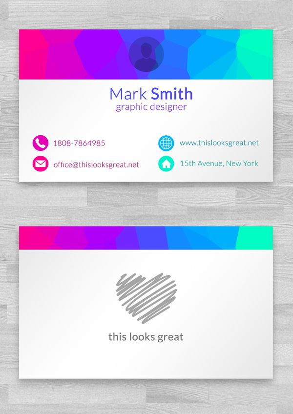Free Colored Business Cards Template | Business Cards Templates ...