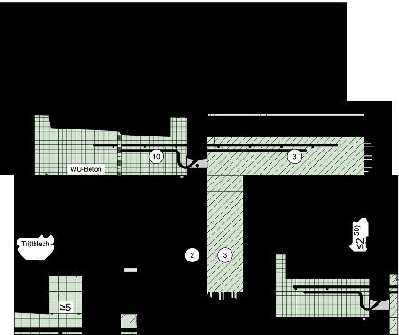 detailseite planungsatlas hochbau einschalige au enwand aus normalbeton mit. Black Bedroom Furniture Sets. Home Design Ideas