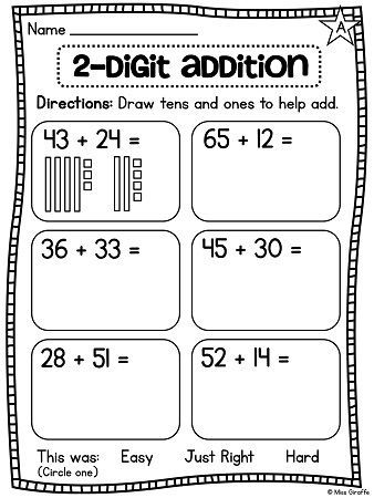first grade math unit 13 for 2 digit addition and. Black Bedroom Furniture Sets. Home Design Ideas