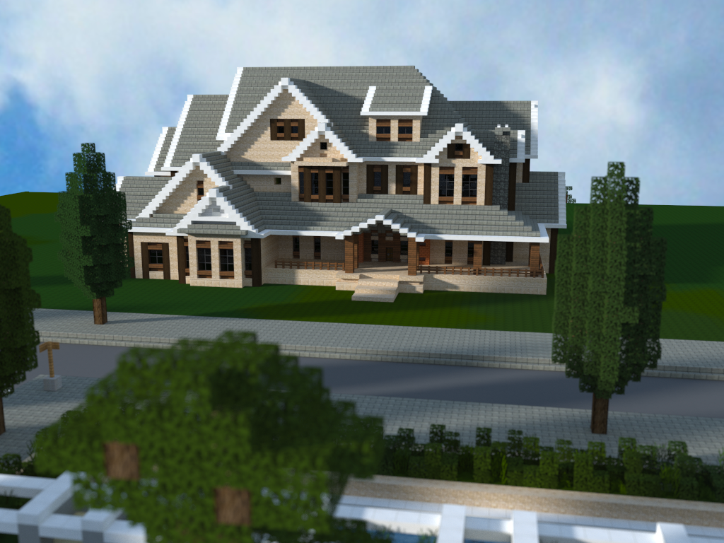 Mansion i made in minecraft download http www for Modern mansion blueprints