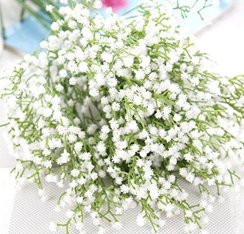 Awesome Classic Stems Of Gypsophila Flowers Or Baby S Breath 12 Individual Artificial Ste Artificial Flowers Real Touch Flowers Hotel Party Decorations