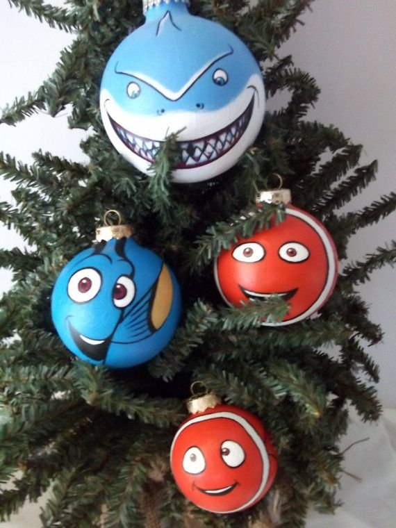 Finding Nemo Pixar Painted Holiday Christmas Ornament Set by GingerPots on  Etsy - Finding Nemo Pixar Painted Holiday Christmas Ornament Set By