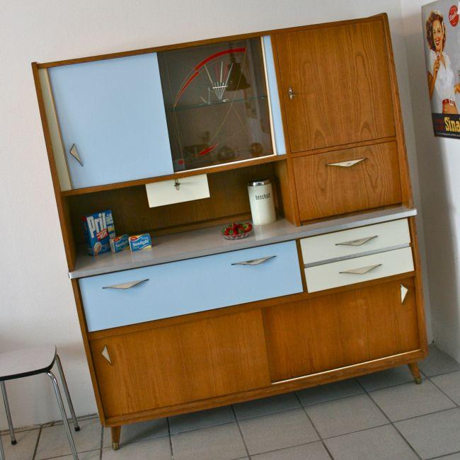 Top 50er Jahre Küchenschrank! Fifties Interieur im Retrosalon