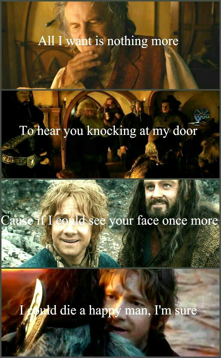 This always makes me cry.... And the thought that Thorin