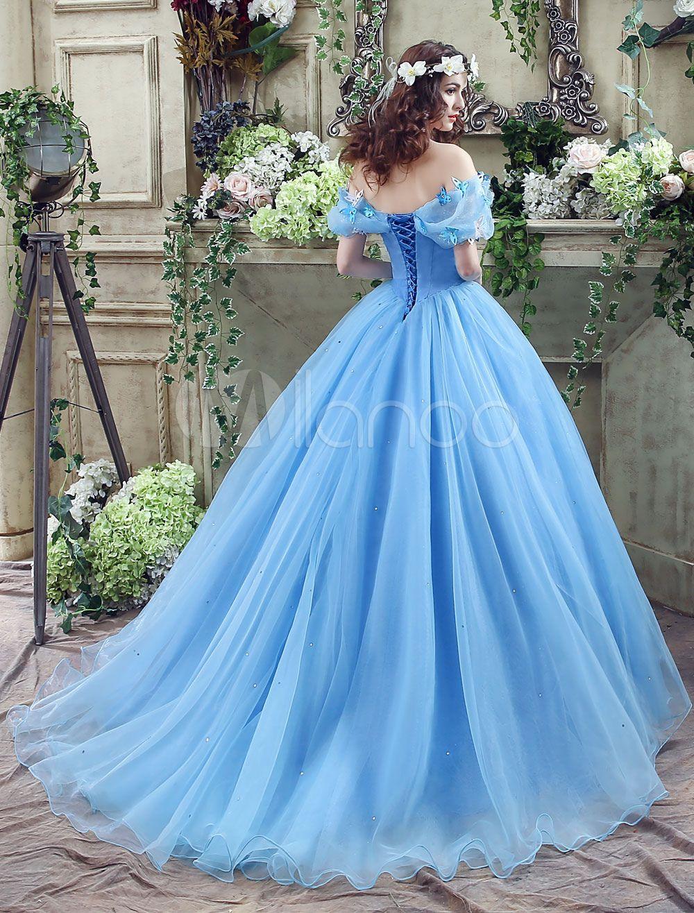 Ballkleider A-Linie- Ball kleider Hochzeit Tüll Prinzessin Kleider