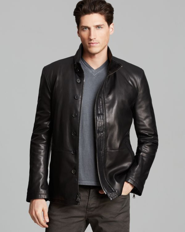 24 Best Men S Casual Outfits Vintagetopia: John Varvatos Collection Double Zip Leather Jacket