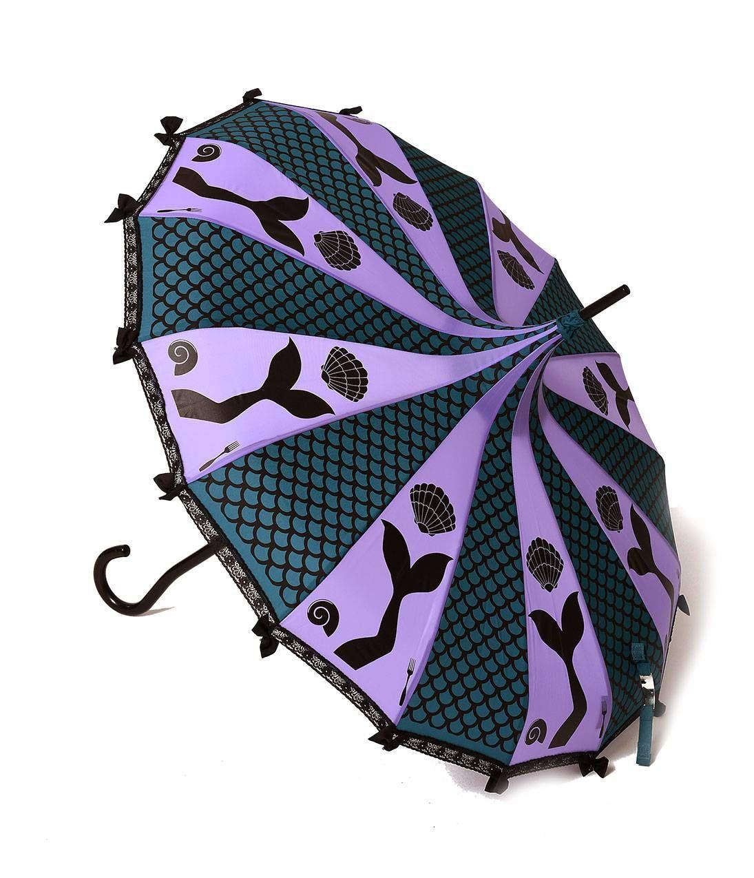 Beautiful Vintage Style Disney Inspired Umbrellas Pagoda Umbrella Umbrella Mermaid