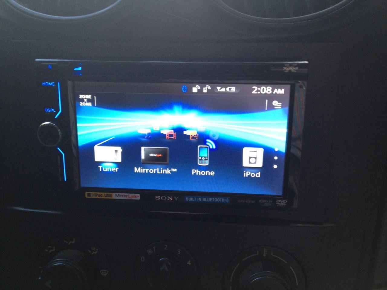 Sony Mirror Link Xav 601bt Installed In A Mahindra Scorpio Car Wiring Diagram