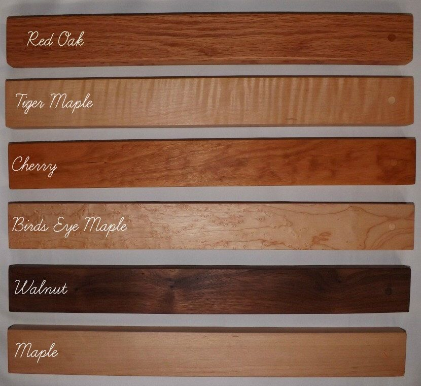 10 Quot Magnetic Knife Rack Holds Up To 7 Knives Magnetic Knife Rack Knife Rack Tiger Maple