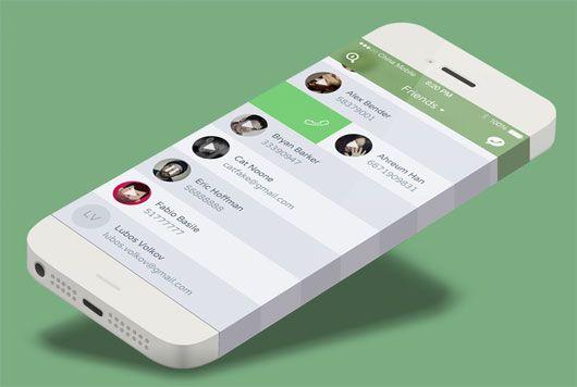 Messaging App - Friends w/ iPhone 6 by Allen Wang