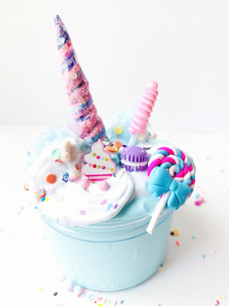 Unicorn Cupcake Slime Scented Handmade
