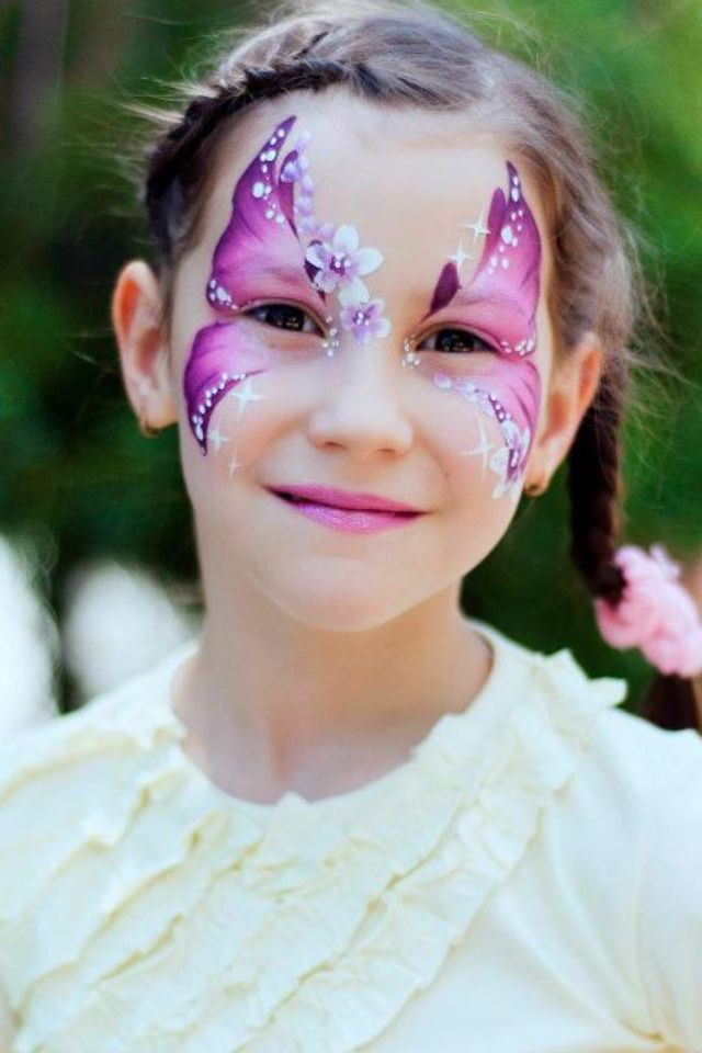 Flowers Butterfly Face Paint Looks Like A Bec Anthony