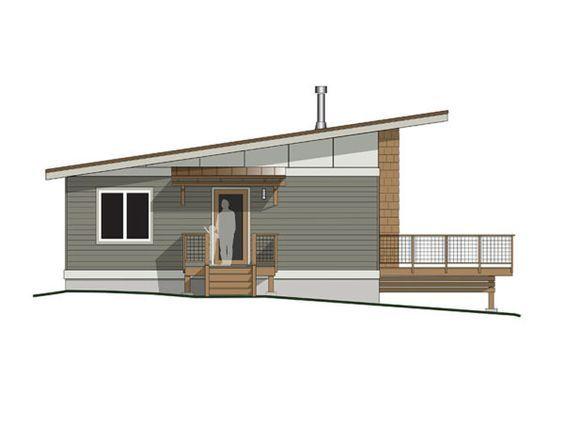 Small Contemporary Cabin On Orcas Island Contemporary Cabin Small House Plans Small House Design