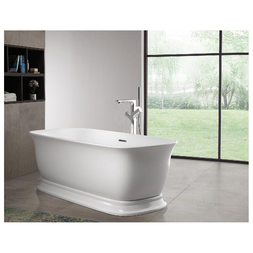Royal Acrylic Double Ended Freestanding Tub No Faucet Drillings