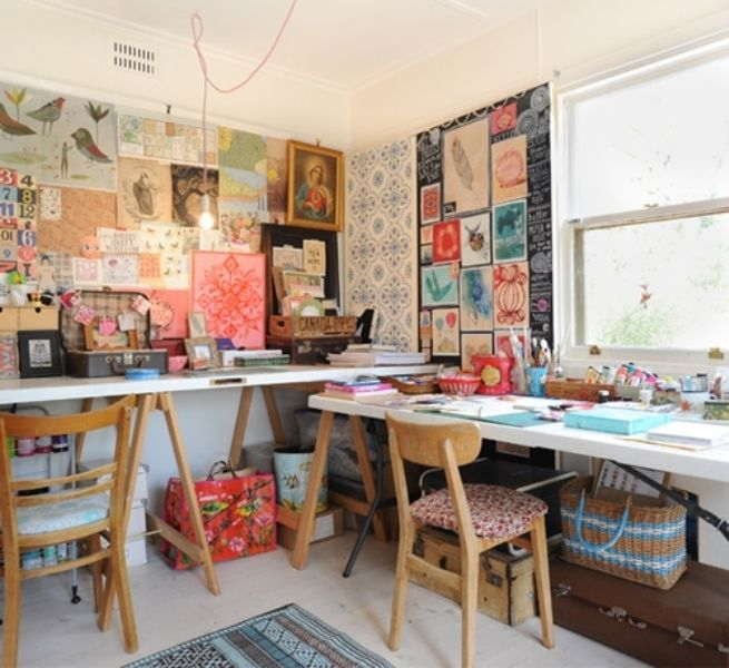The House Is Located In Melbourne, Australia And Belongs To Illustrator  Paula Mills