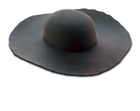 a743a091b14 Black Heavy Wool Felt Hat Blank (Unlined) HW-913