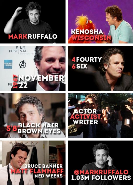 Get to know Mark Ruffalo