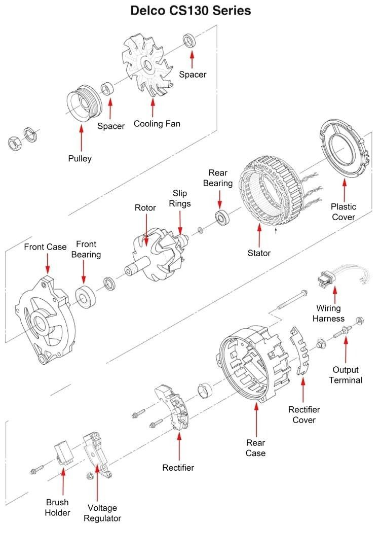 mando marine alternator wiring diagram wiringdiagram org rh pinterest com Delco Alternator Wiring Diagram Case 530 CK Alternator Wiring Diagram