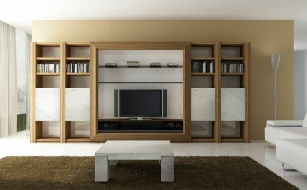 Massivholz Wohnzimmermöbel ~ Tv wände beispiele wohnzimmermöbel tv wohnwand holz tv unit