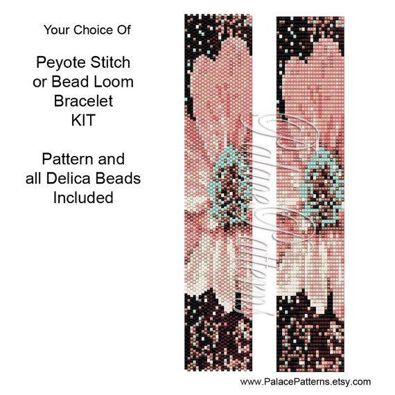Peyote or Bead Loom Bracelet Kit - Peyote Stitch Delica Bracelet KIT ...