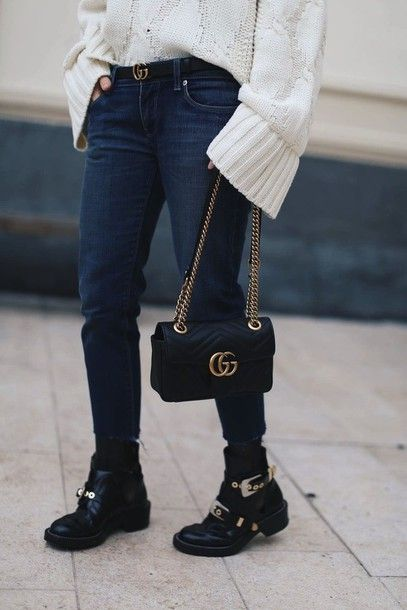 80a19645a7f Shoes  tumblr boots black boots flat boots buckle boots buckles bag black  bag gucci gucci bag chain