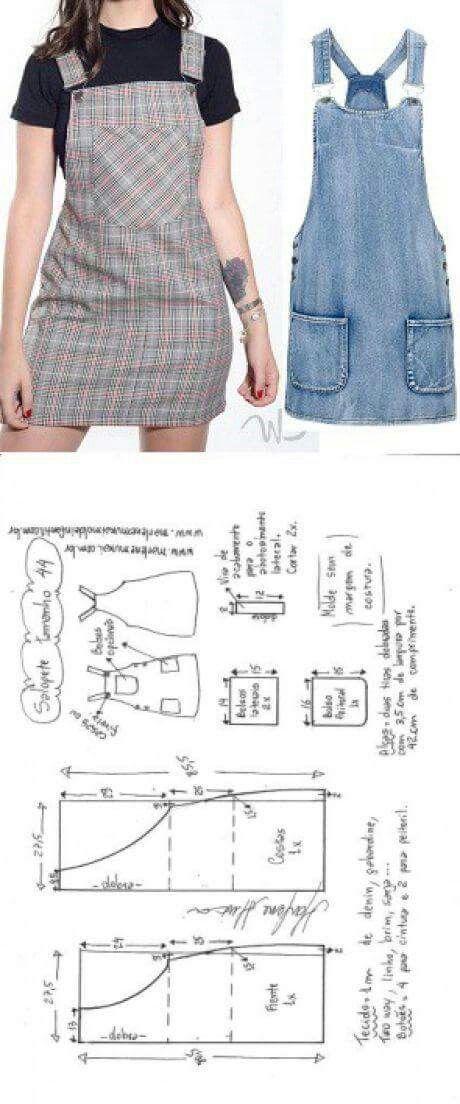 Roupas fácil | Patrones de costura | Pinterest