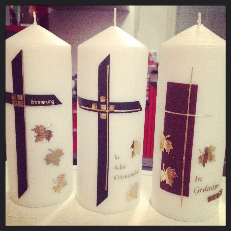 Trauer   Kerzen   Candles, Pillar candles