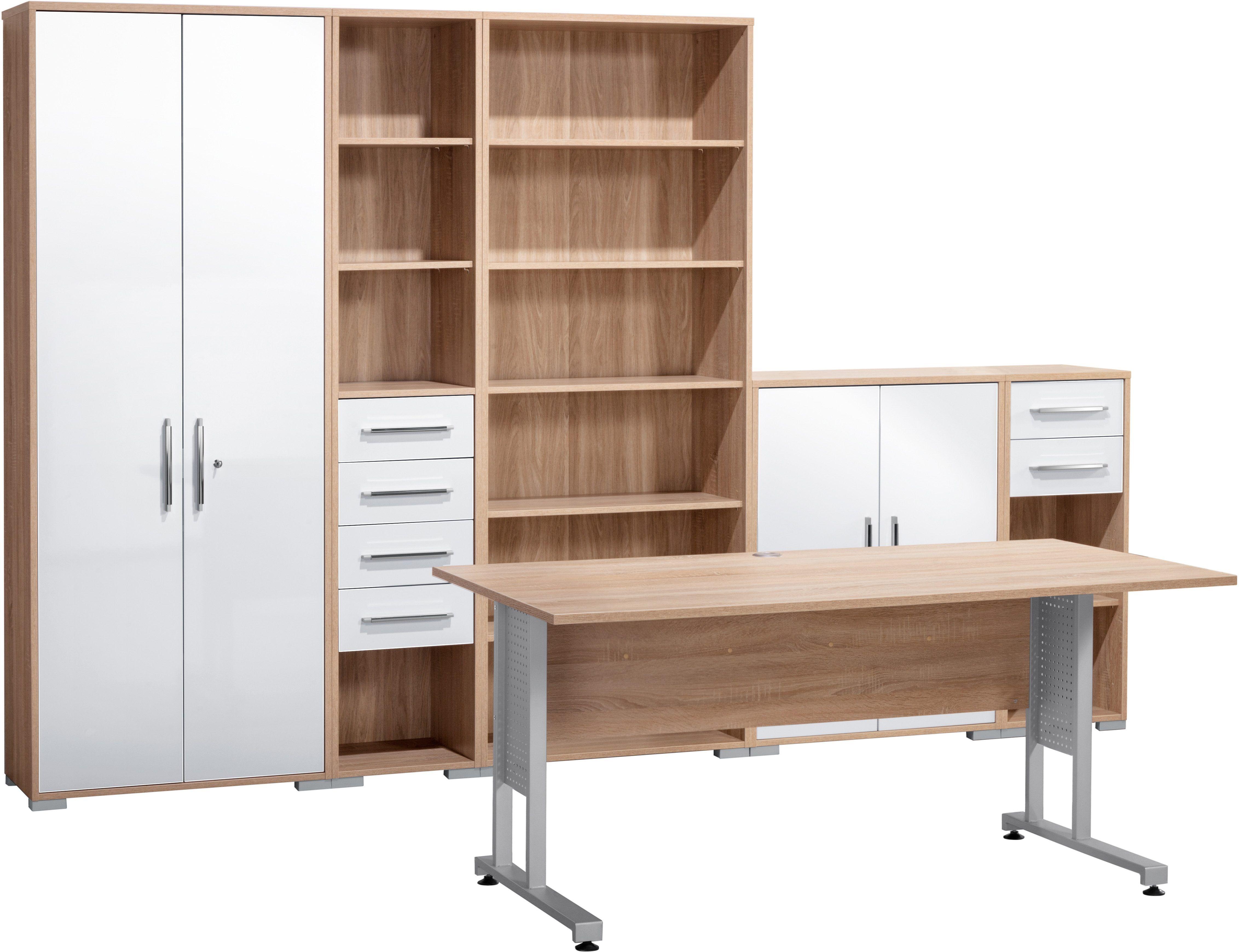 MAJA Möbel Büromöbel-Set (6-tlg.) beige, »1200«, Hochglanz Jetzt ...