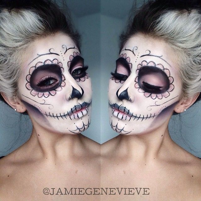 day of the dead sugar skull makeup did this last halloween such an awesome design very easy too dia de muertos mexico cultura - Skull Halloween Decorations