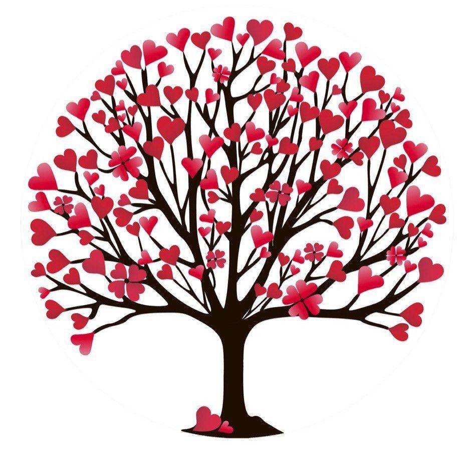 Valentine's Tree Screen Door Magnet