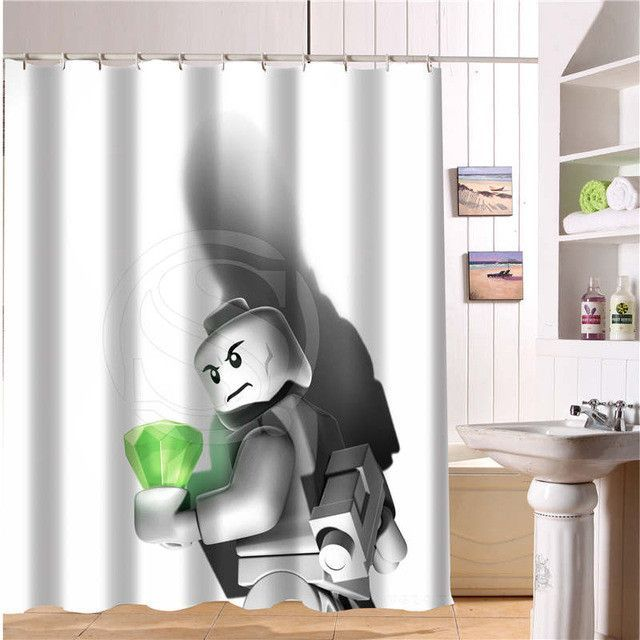 Hot Sale Custom Lego Batman Trinity joker Fabric Modern Shower ...