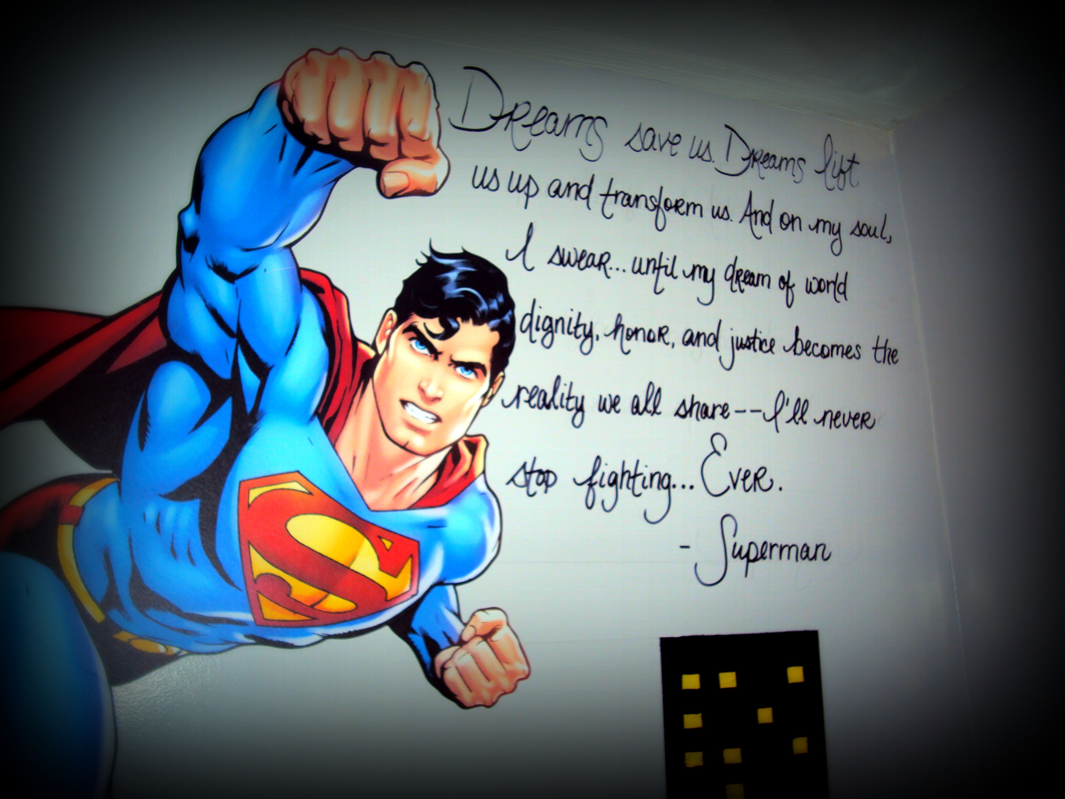 Liam's Superman Wall :)