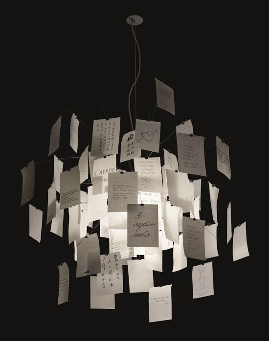 Ingo maurer paper note chandelier from the desk of dolly ingo maurer paper note chandelier aloadofball Image collections