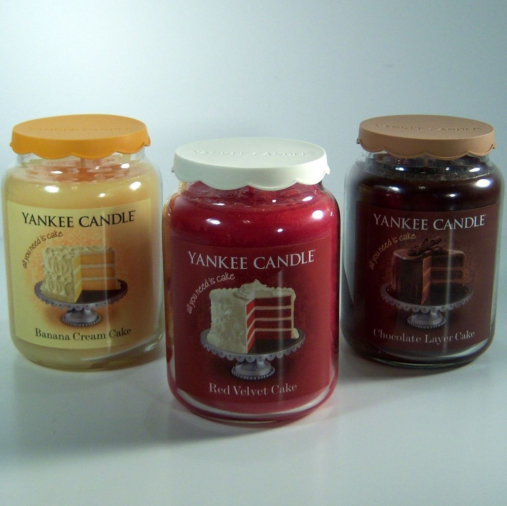 Yankee candle banana cream cake red velvet cake chocolate layer cake