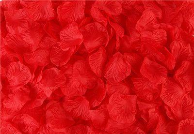 KOSHINE 1000pcs/lot Silk Rose Petals Artificial Flowers For Wedding Decoration, Party Festival Confetti Decor Petals 40 colors