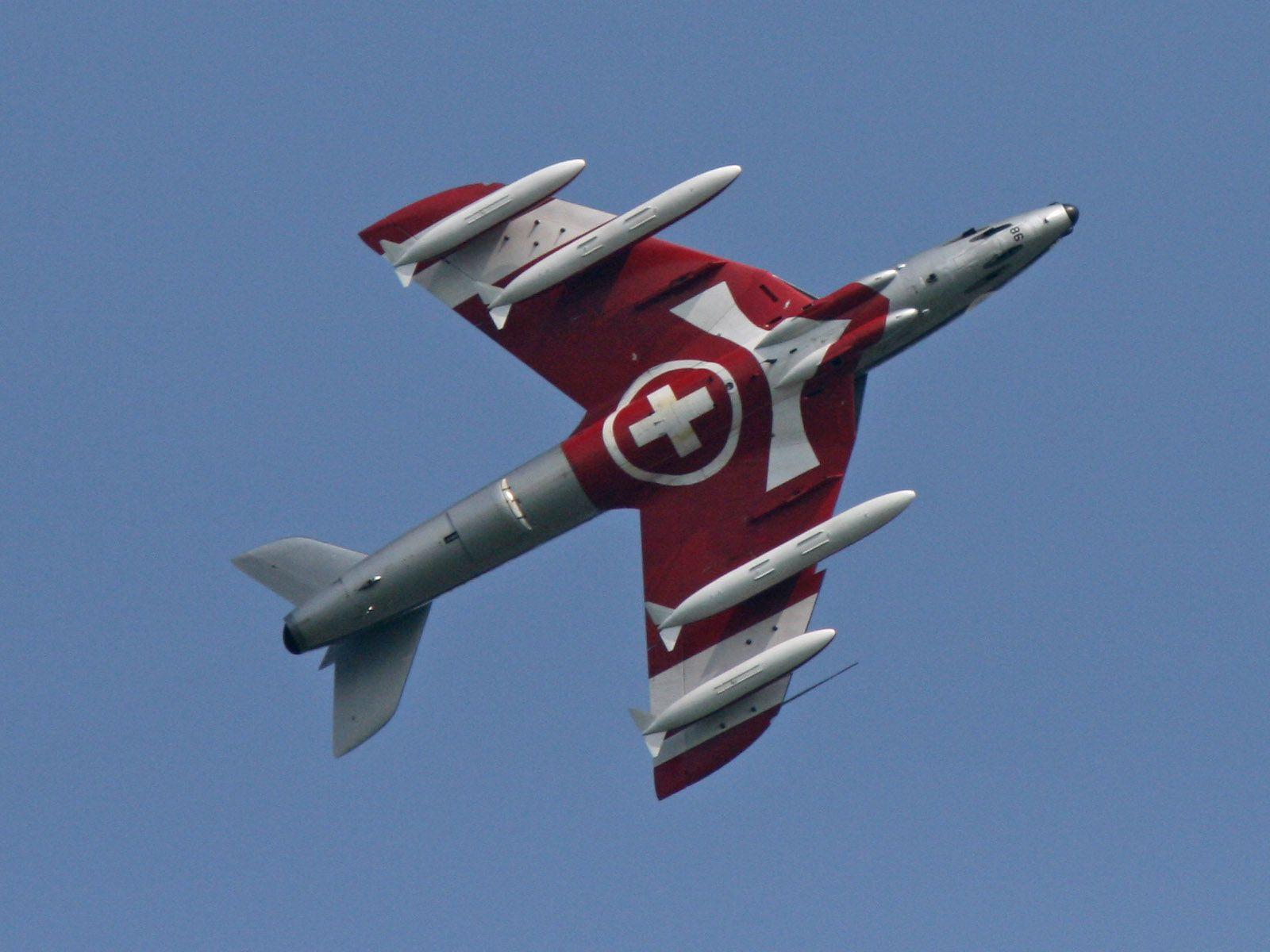 Bilder Hawker Hunter - Kategorie: Hawker Hunter - Bild: Hawker Hunter Mk.58 J-4086 HB-RVU